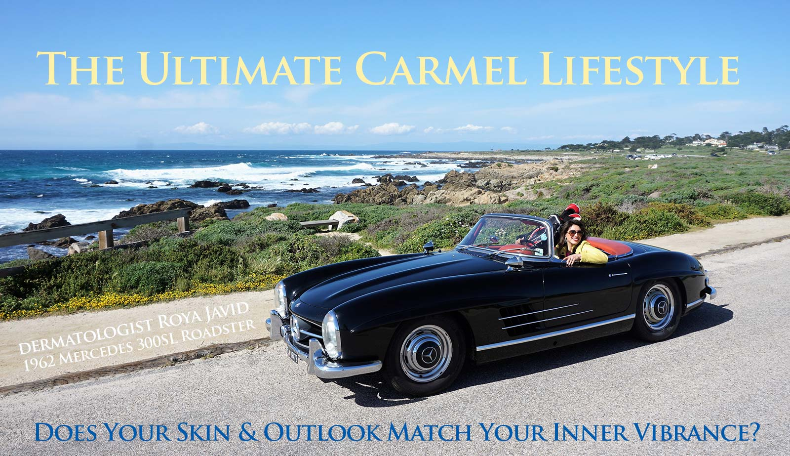 coastal-valley-dermatology-carmel-roya-javid-mercedes-roadster-photo